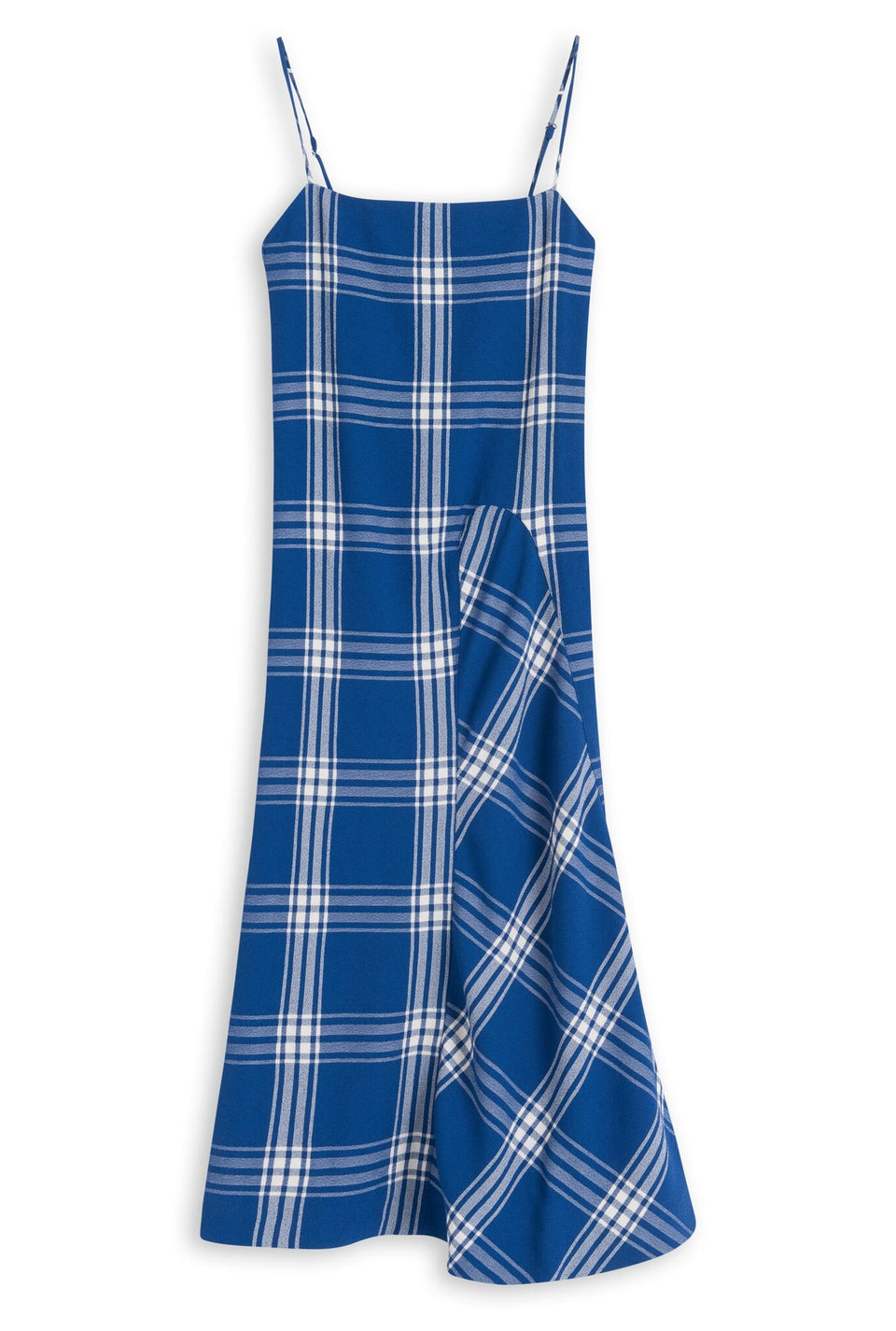Aida Dress Blue Check Dress Wood Wood - der ZEITGEIST