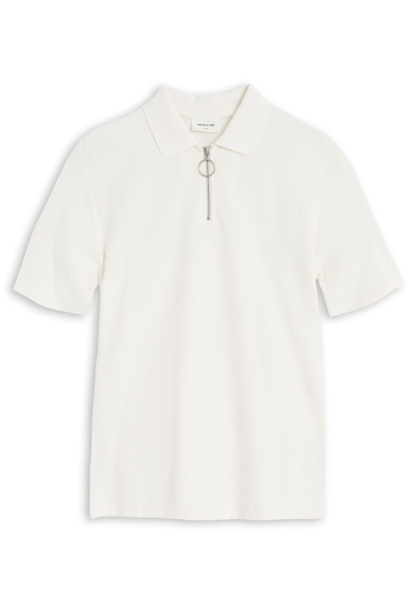 Bower Polo Shirt Off White Polo Shirt Wood Wood - der ZEITGEIST