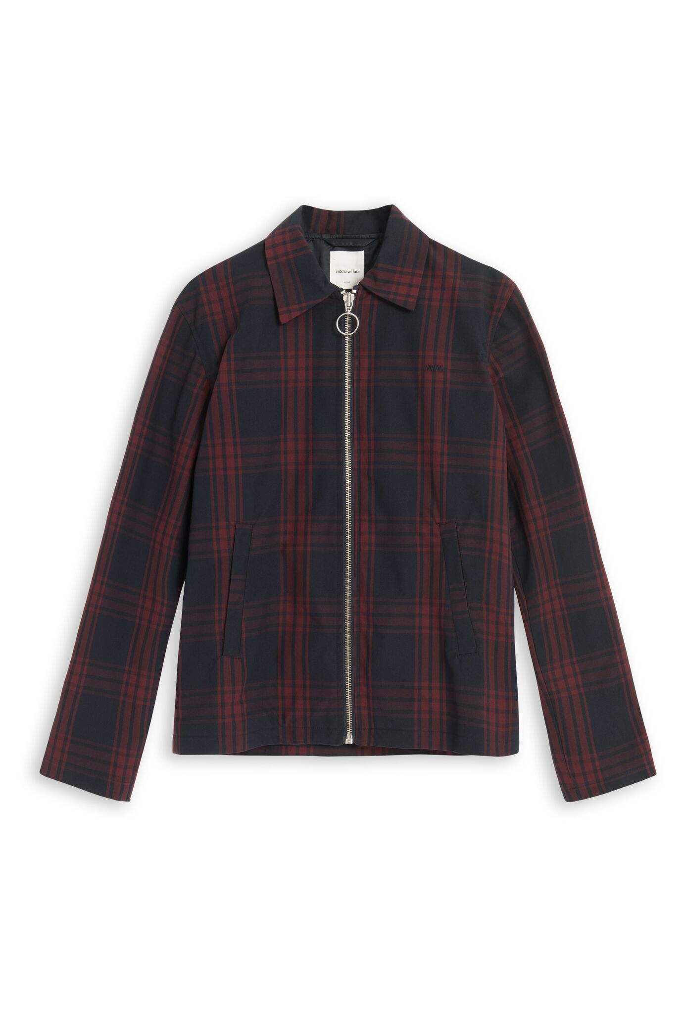 Corbyn Jacket Navy Check Jacket Wood Wood - der ZEITGEIST
