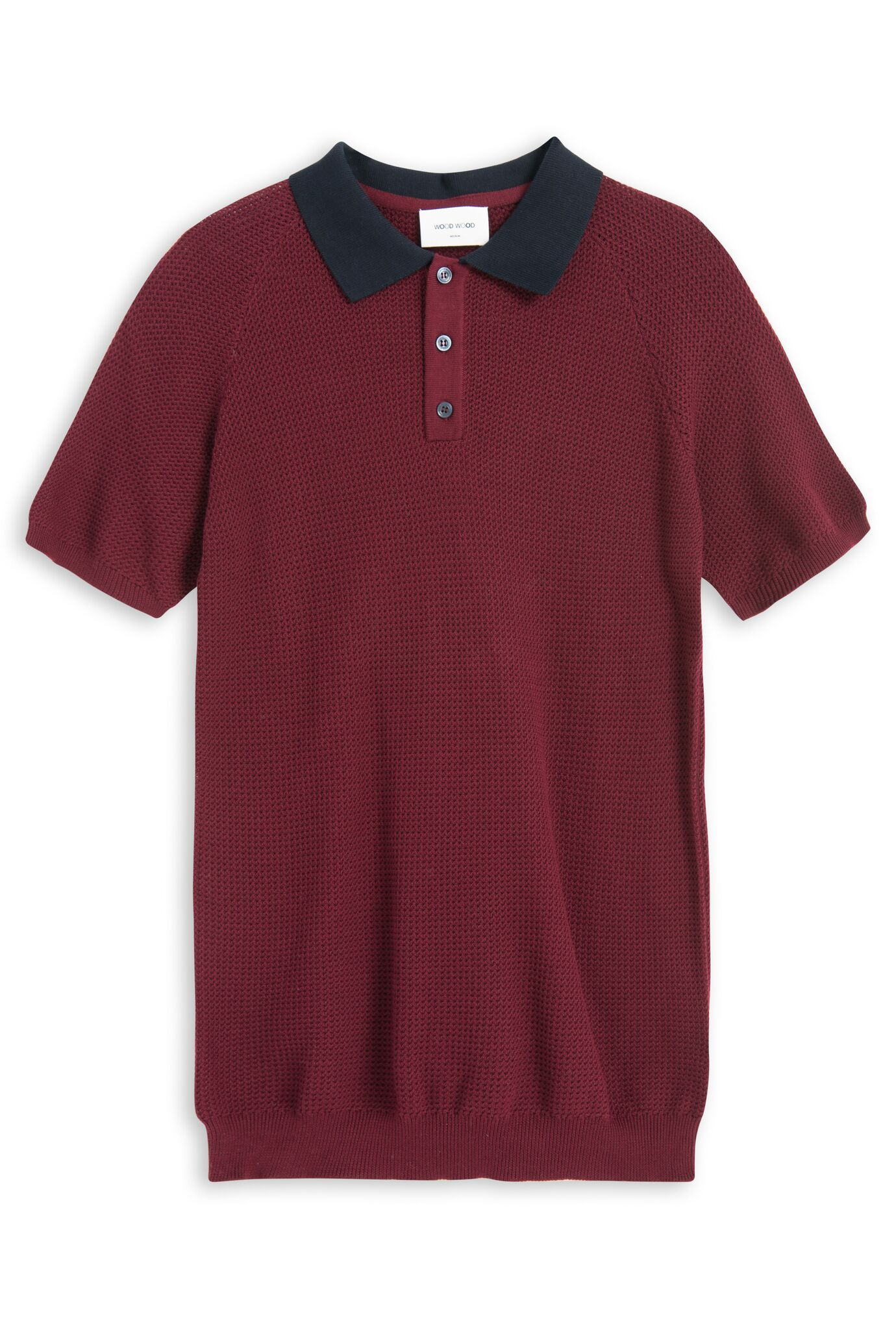 Kosmo Polo Shirt Dark Red Polo Shirt Wood Wood - der ZEITGEIST