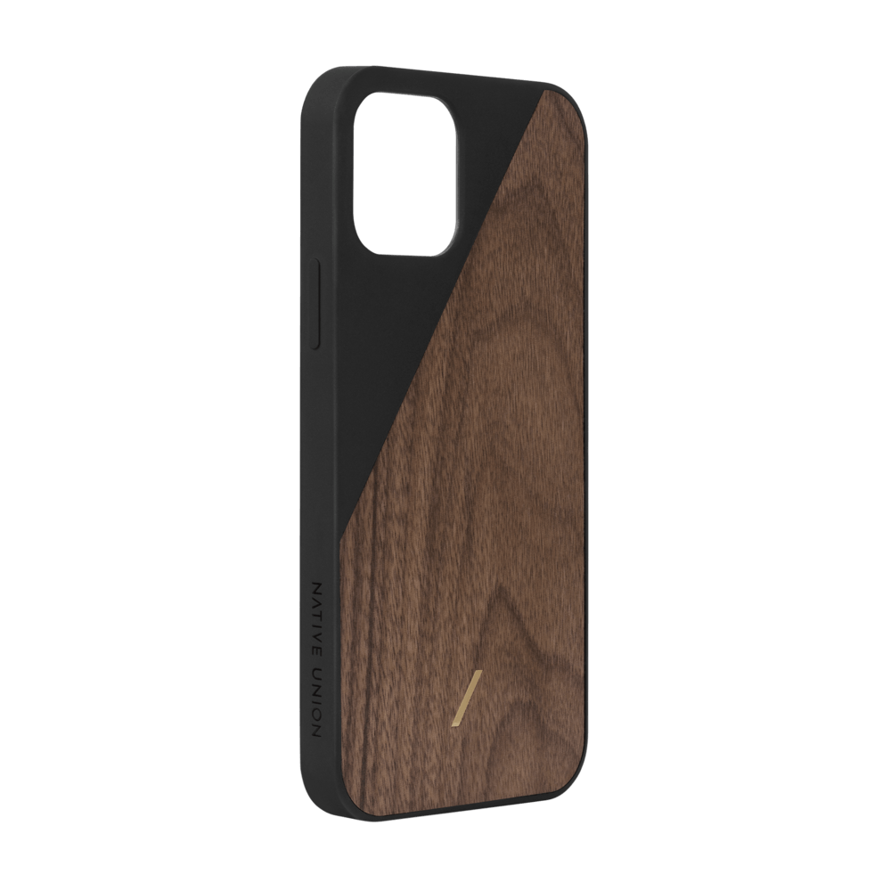 Clic Wooden iPhone 12 / 12 Pro Phone Case - Black