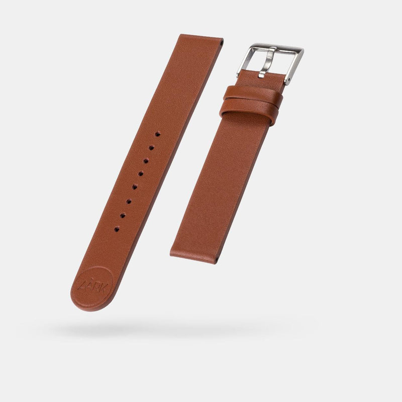 Smooth Tan Watch Strap 18mm