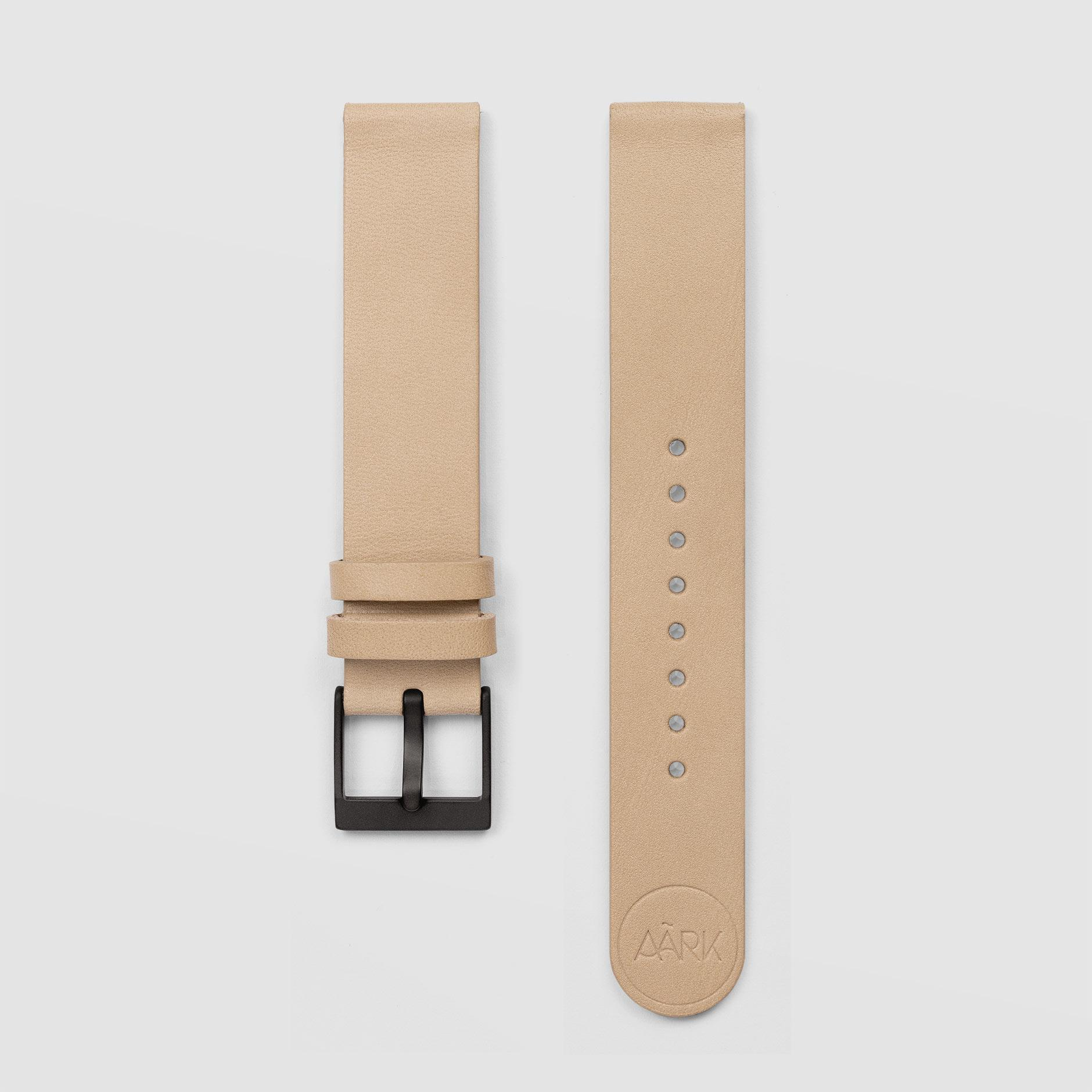 Smooth Beige Watch Strap 18mm Watch Strap AÃRK Collective - der ZEITGEIST