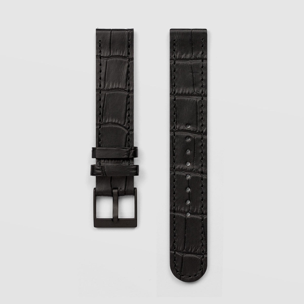 Croc Grain Black Watch Strap 18mm Watch Strap AÃRK Collective - der ZEITGEIST