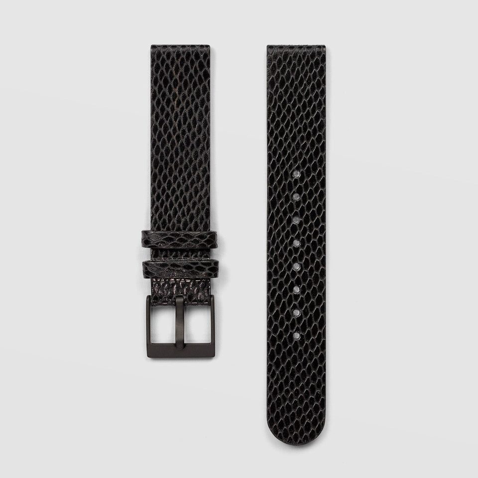 Snake Grain Black Watch Strap 18mm Watch Strap AÃRK Collective - der ZEITGEIST