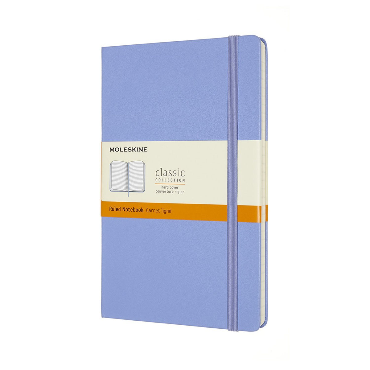 Classic Large Lined Notebook - Hydrangea Blue