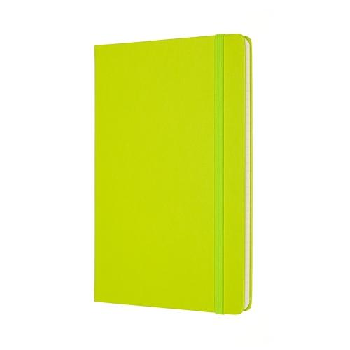 Classic Large Lined Notebook - Lemon Green