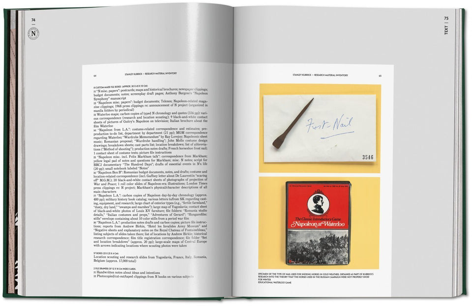 "Stanley Kubrick's ""Napoleon"". The Greatest Movie Never Made Books Taschen - der ZEITGEIST"