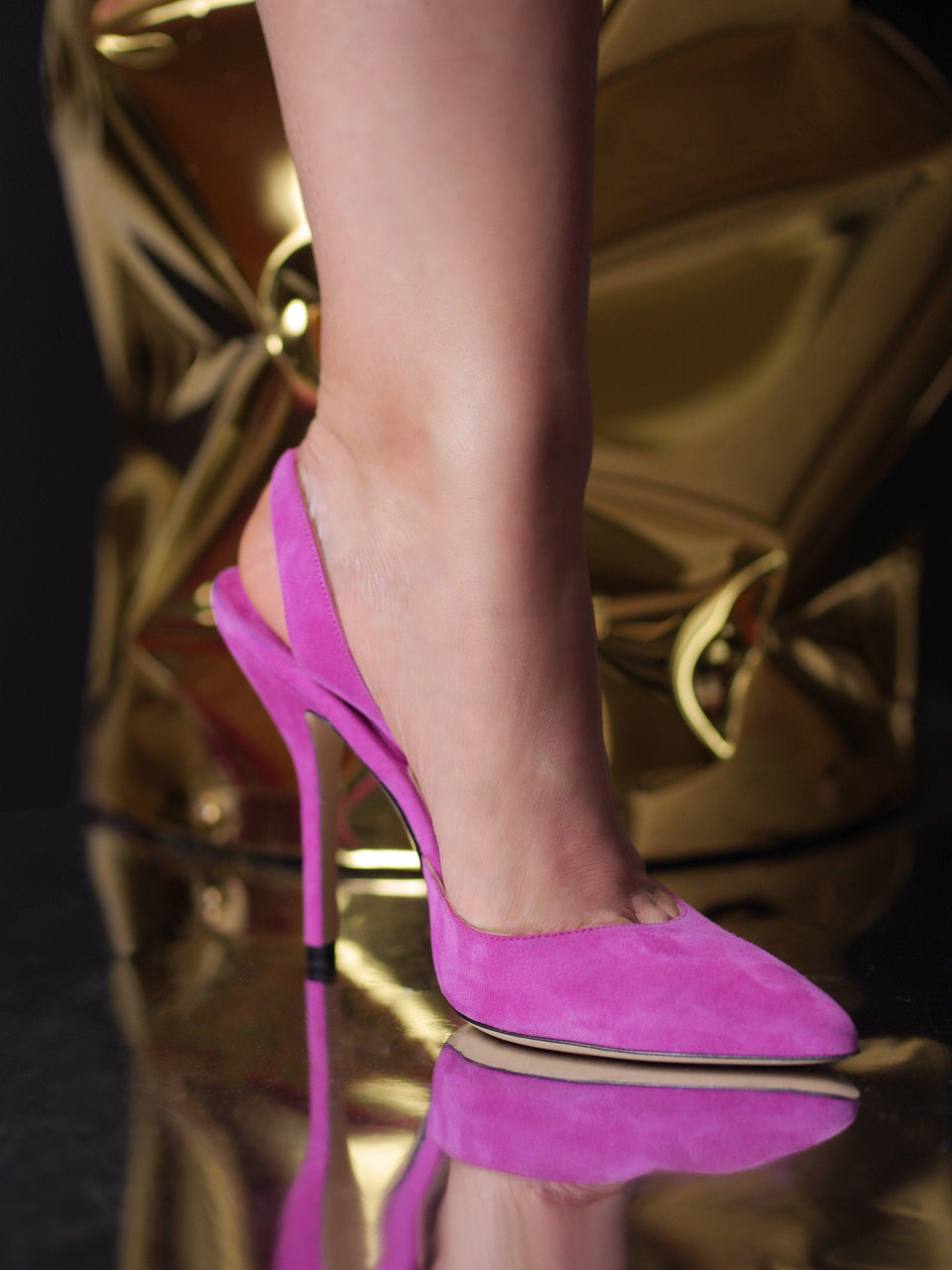Passion: Suede Slingback Fuchsia Shoes Paul Andrew - der ZEITGEIST