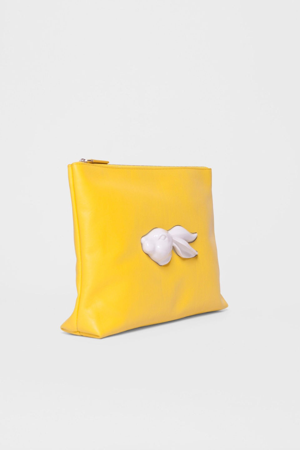 Pouch Rabbit Head Yellow Handbag Andres Gallardo - der ZEITGEIST