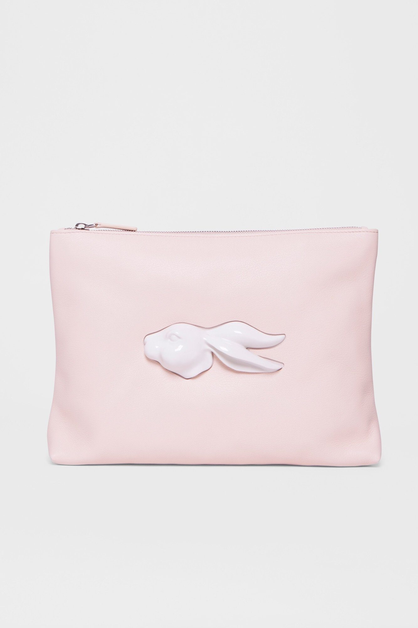 Pouch Rabbit Head Natural Handbag Andres Gallardo - der ZEITGEIST