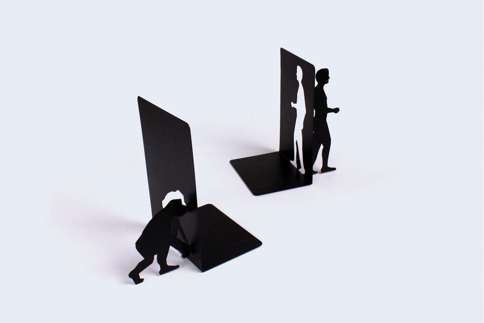 Evolution Metal Bookends (Black) Bookends DOIY - der ZEITGEIST