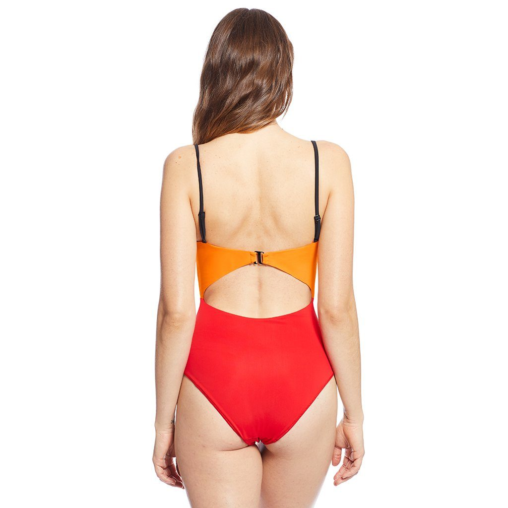 Sunset Swimsuit Orange/Red Swimwear Chromat - der ZEITGEIST