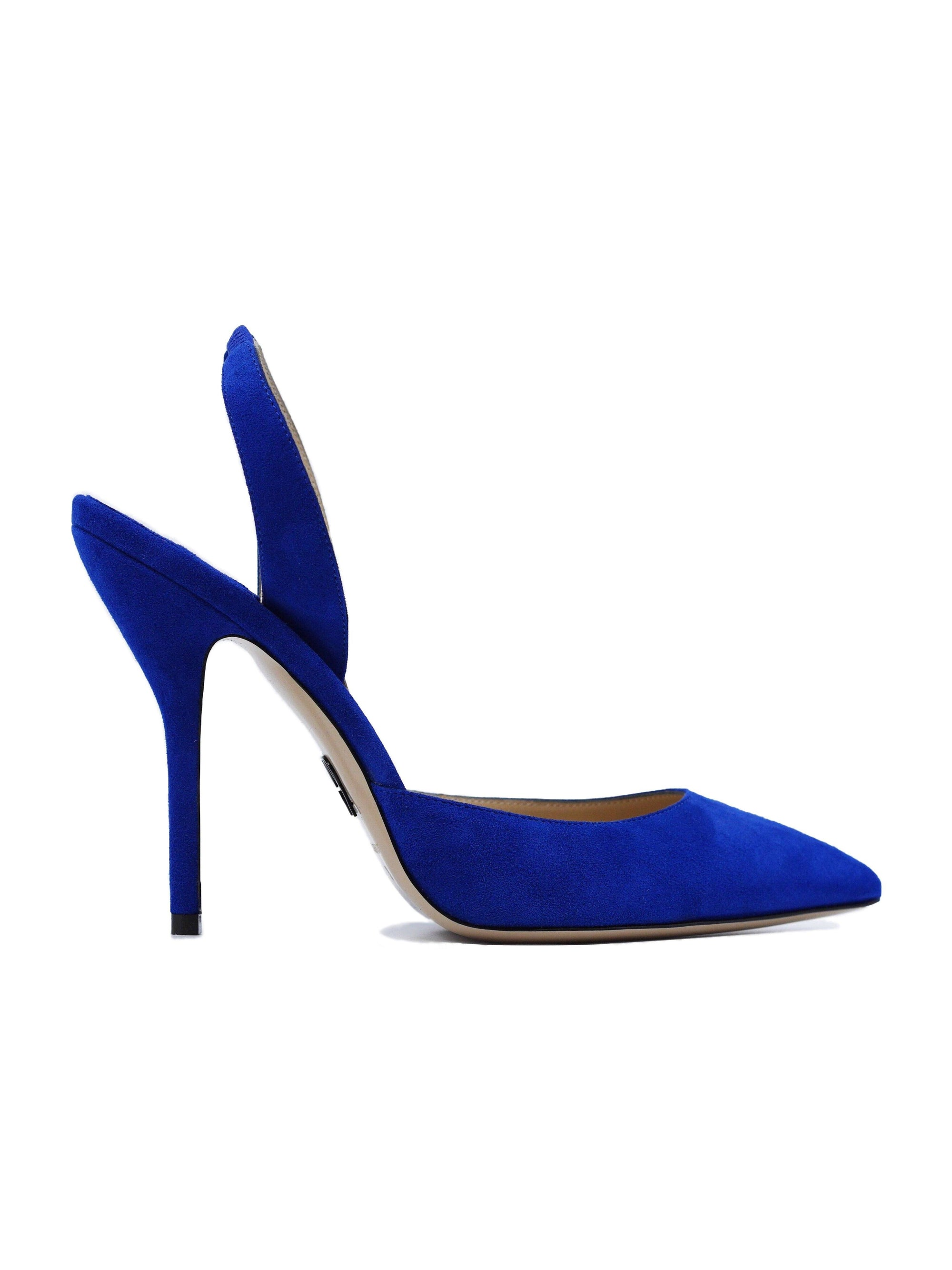 Passion: Suede Slingback Klein Blue
