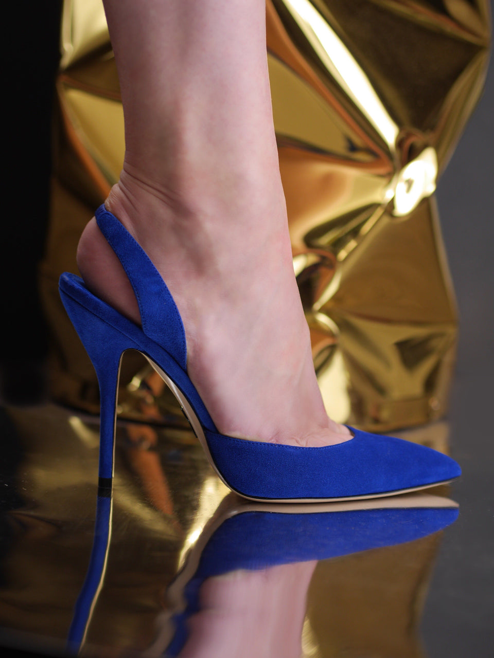 Passion: Suede Slingback Klein Blue Shoes Paul Andrew - der ZEITGEIST