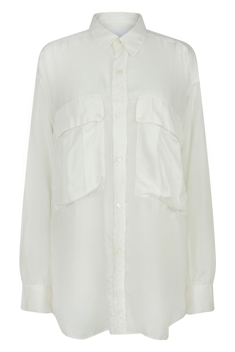 ALEX White Silk Shirt Shirt Katharine Hamnett London - der ZEITGEIST