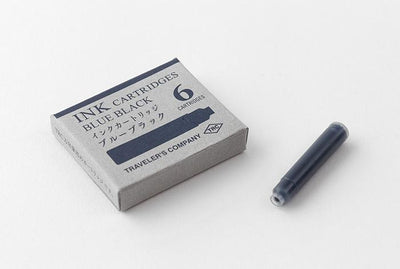 Traveler's Brass Fountain Pen Ink Cartridges - Blue Black Stationary Traveler's Company - der ZEITGEIST