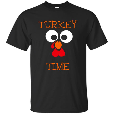 Turkey Time Funny Face Thanksgiving Day Novelty T Shirt