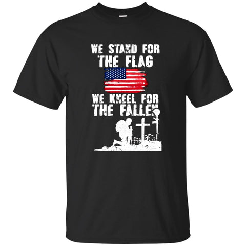 Veteran Tshirt - Stand For The Flag, Kneel For The Fallen