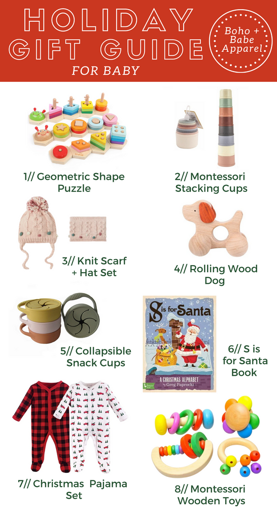 Holiday Gift Guide for Baby's First Christmas