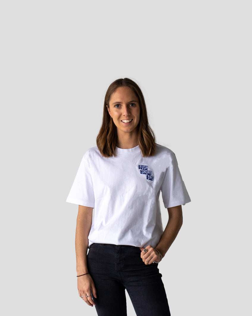 Fush Shore Bro Staff Tee (White)