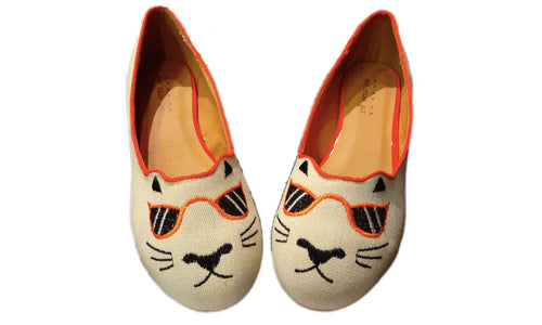 Hot Polka Dot Cool Cat Flats