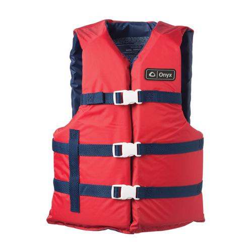 Onyx Universal Boating Vest Adult Universal Red