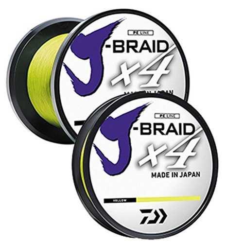 Daiwa J-Braid X4 300 Yard Spool 15LB Test - Fluorescent Yllw