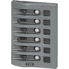 Blue Sea 4376 WeatherDeck Water Resistant Circuit Breaker Panel - 6 Position - Grey [4376]
