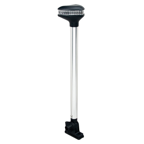 "Perko Stealth Series - L.E.D. Fold Down White All-Round Light - Vertical Mount - 13-3-8"" [1639DP0CHR]"