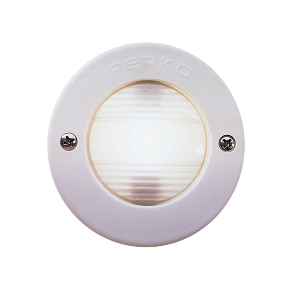 Perko Vertical Mount Stern Light w-White Bezel [0946DP1WHT]