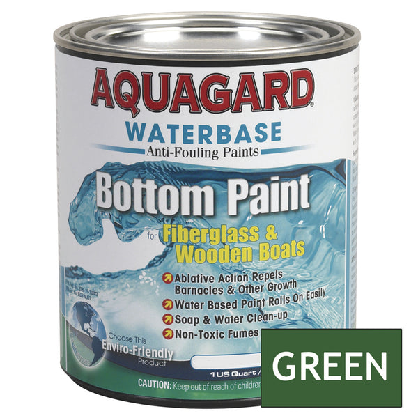 Aquagard Waterbased Anti-Fouling Bottom Paint - 1Qt - Green [10004]