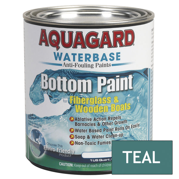 Aquagard Waterbased Anti-Fouling Bottom Paint - 1Qt - Teal [10005]
