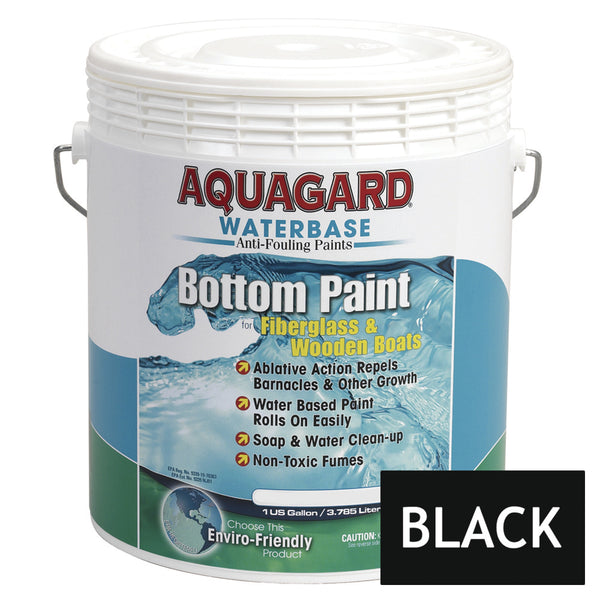 Aquagard Waterbased Anti-Fouling Bottom Paint - 1Gal - Black [10101]