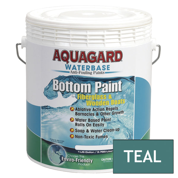 Aquagard Waterbased Anti-Fouling Bottom Paint - 1Gal - Teal [10105]