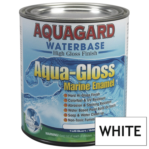 Aquagard Aqua Gloss Waterbased Enamel - 1Qt - White [80021]