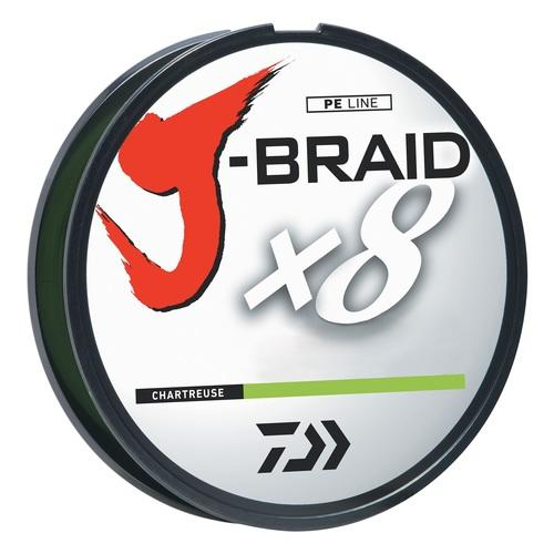 Daiwa J-Braid Fishing Line-6Lb Test 330 Yards - Chartreuse