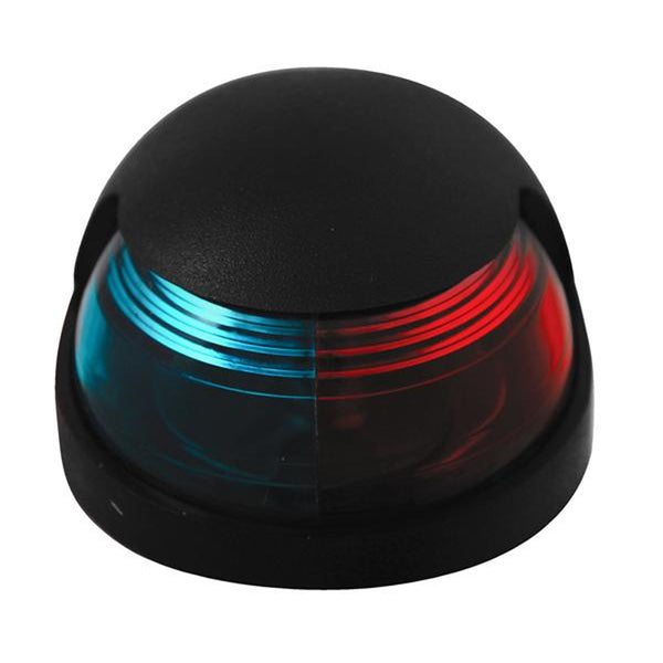 Attwood Quasar 2-Mile Deck Mount, Bi-Color Red-Green Combo Sidelight - 12V - Black Housing [3120-7]