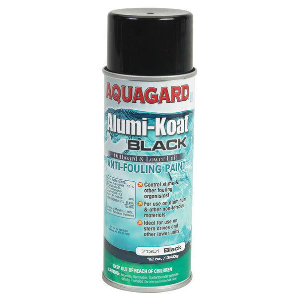 Aquagard II Alumi-Koat Spray f-Outboards & Outdrives - 12oz - Black [71301]