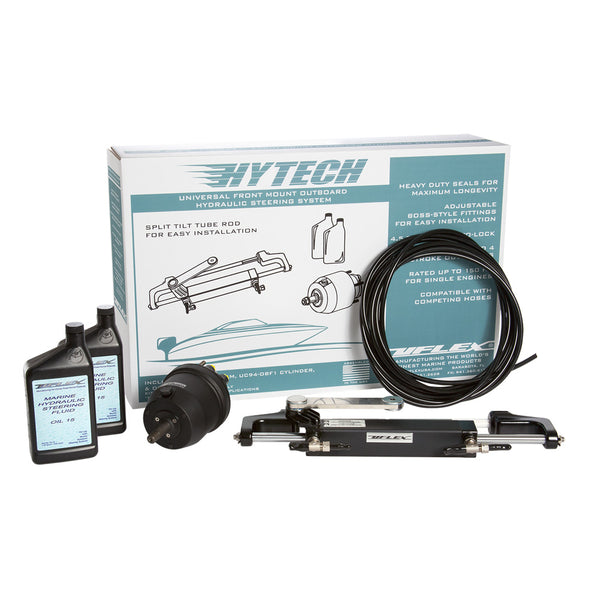 UFlex HYTECH 1.0 Front Mount OB Steering System f-Up to 150HP w-UP20 F Helm, UC94-OBF, 40' Nylon Tubing, 2 Quarts Oil [HYTECH 1.0]