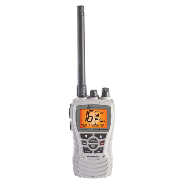 Cobra MR HH350W FLT Floating 6W VHF Radio - White [MR HH350W FLT]