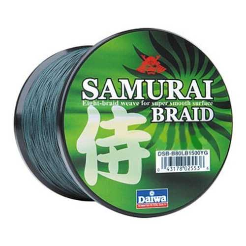 Daiwa Samurai Braid Filler Spool 300Y Green 80 lb. Test