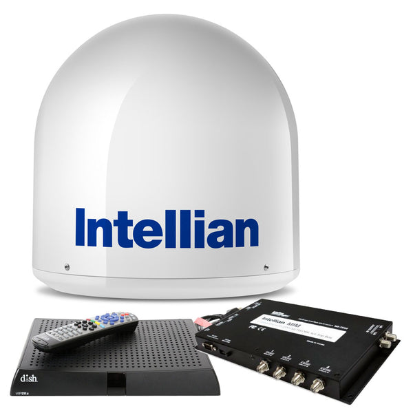 Intellian i2 US System w-DISH-Bell MIM Switch, 15M RG6 Cable,  VIP211z DISH HD Receiver [B4-I2DNSB]