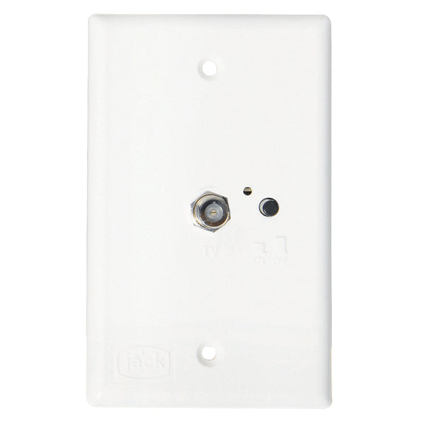 KING Jack PB1000 TV Antenna Power Injector Switch Plate - White [PB1000]