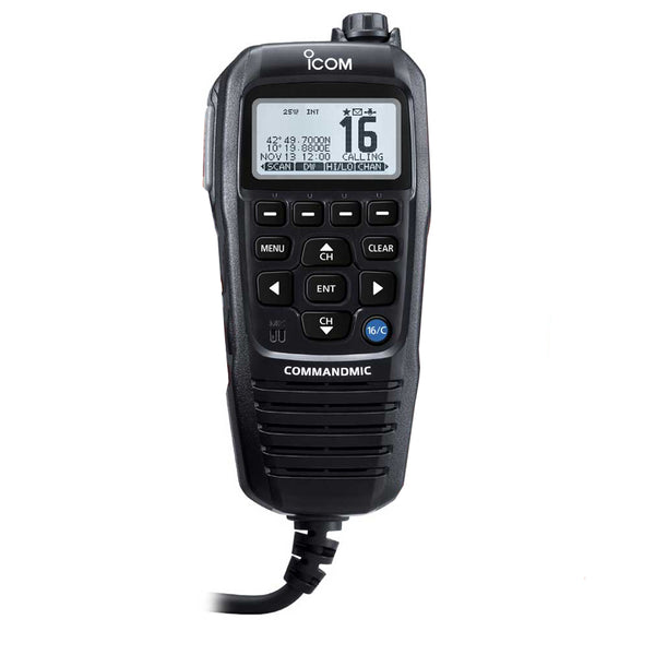 Icom COMMANDMICIV w-White Blacklit LCD - Black [HM195GB]