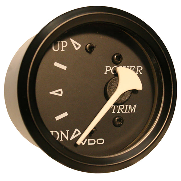 VDO Allentare Black Trim Gauge - For Use w-Mercury-Volvo-Yamaha 2001+ Engines - 12V - Black Bezel [382-11803]