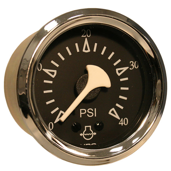 VDO Allentare Black 40PSI Mechanical Water Pressure Gauge - Chrome Bezel [150-11278]