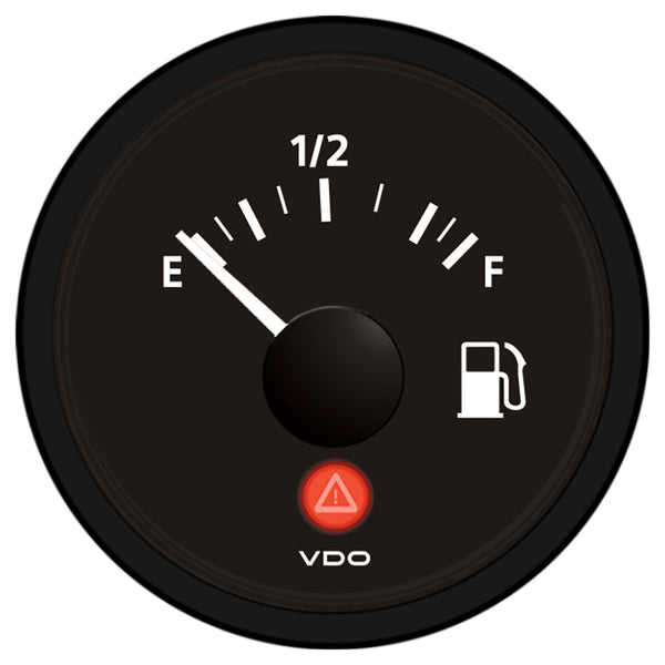 VDO Viewline Onyx Fuel Gauge 12-24V - Use with 240-33 Ohm Sender [A2C53412988-S]