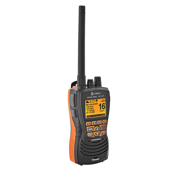 Cobra MR HH600B Floating GPS VHF Radio w-Bluetooth - Black [MR HH600 FLT GPS BT]
