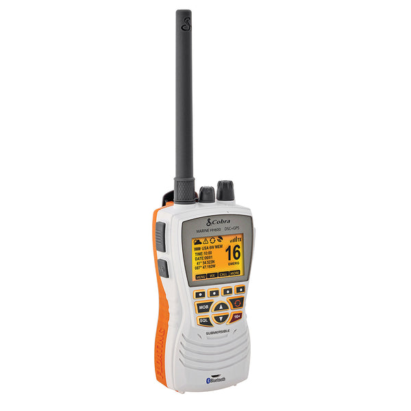 Cobra MR HH600W Floating GPS VHF Radio w-Bluetooth - White [MR HH600W FLT GPS BT]